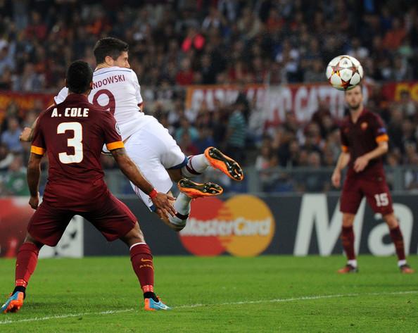 Gol Roberta Lewandowskiego Roma Bayern