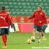 Trening Szwajcarów przed meczem z Polską