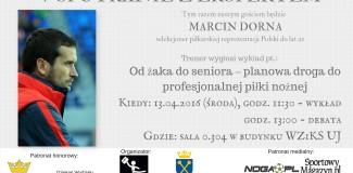 Trener Marcin Dorna gościem Koła Managerów Sportu Uniwersytetu Jagiellońskiego